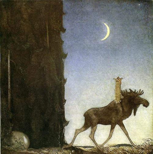 Leap_the_Elk  _and_Princess_Tuvstar_ John_Bauer