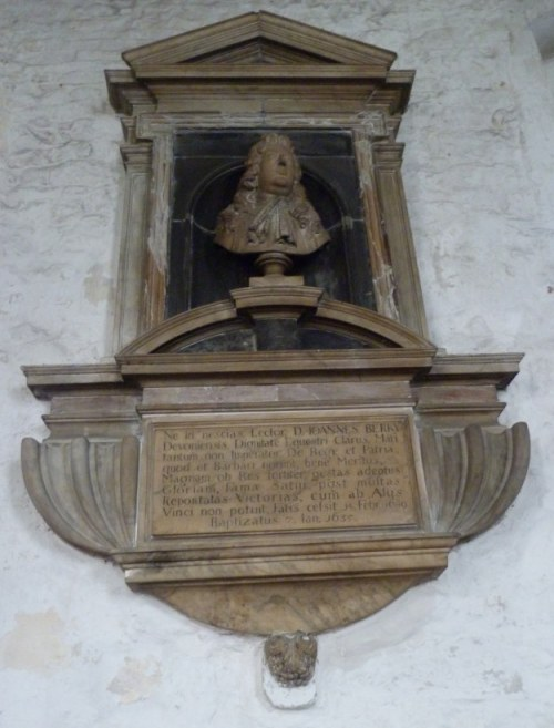 Memorial to Admiral Sir John Berry (d. 1689)