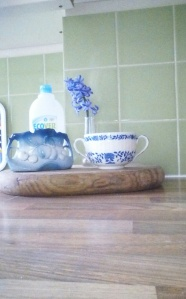 Blue Heirlooms and Random Blue Washing-Up Liquid Bottle Lid
